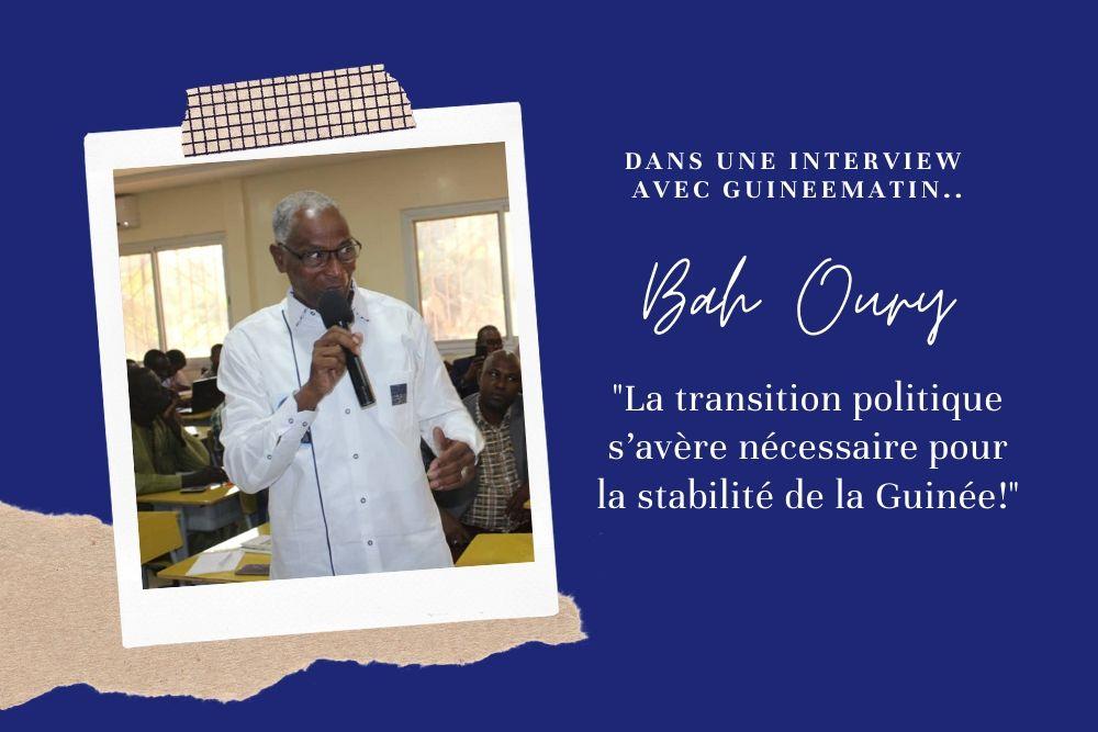 La transition politique s'avère nécessaire pour la stabilité de la Guinée