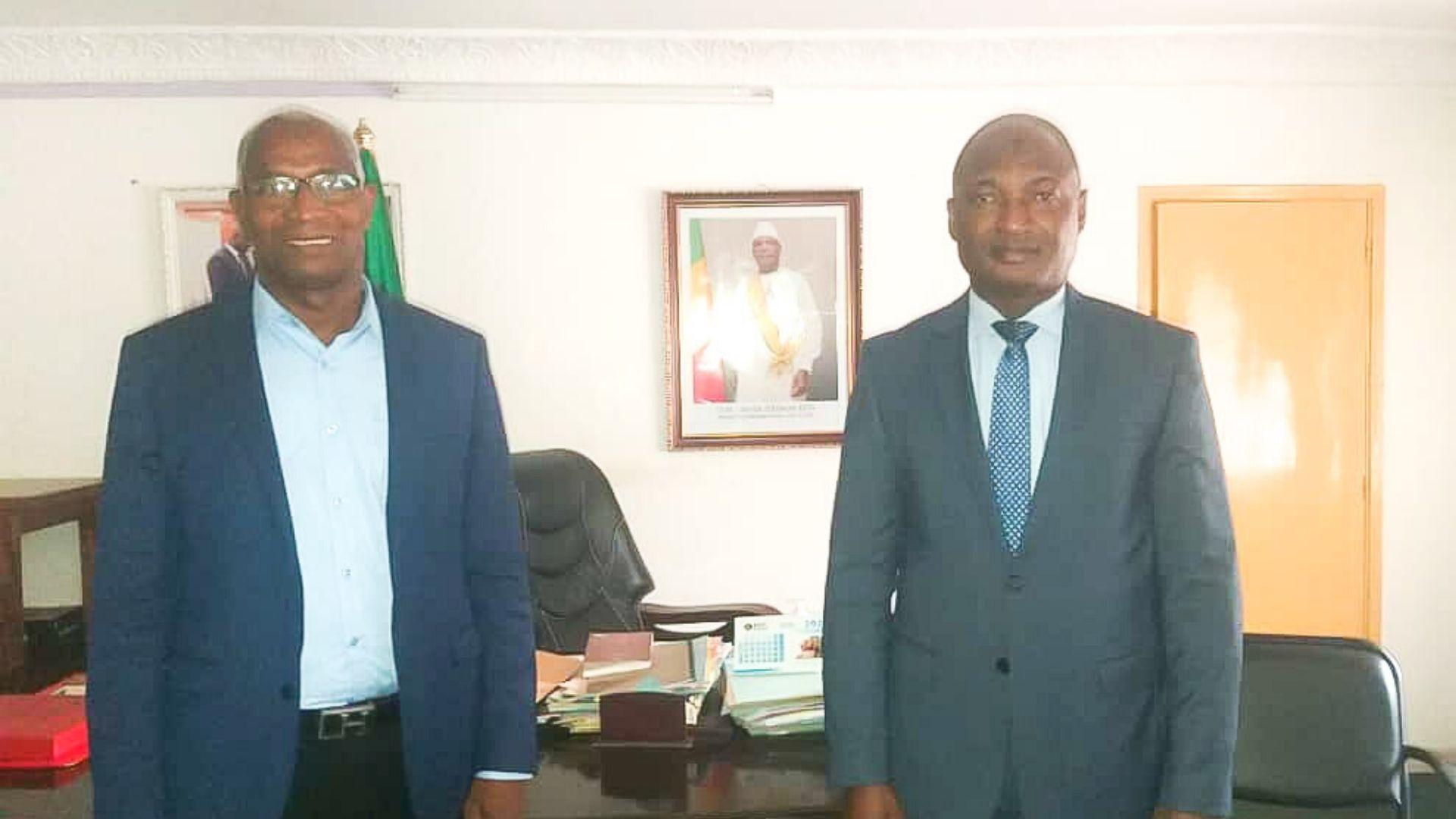Bah Oury et l'ambassadeur du Mali en Guinee